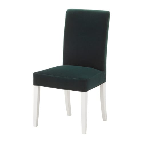Henriksdal Chair With Cover Djuparp Dark Green Ikea