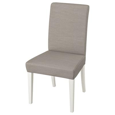 HENRIKSDAL chair white/Nolhaga grey-beige 110 kg 51 cm 58 cm 97 cm 51 cm 42 cm 47 cm