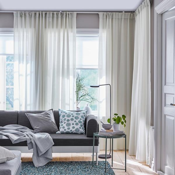 HILJA Curtains, 1 pair, white, 145x250 cm
