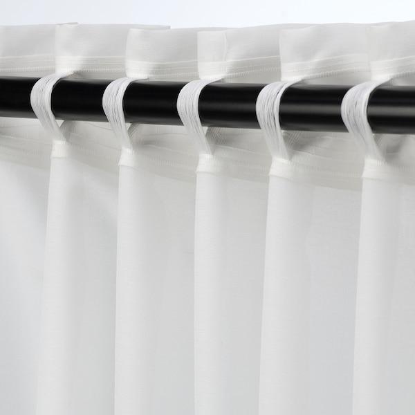 HILJA curtains, 1 pair white 250 cm 145 cm 0.92 kg 3.63 m² 2 pack
