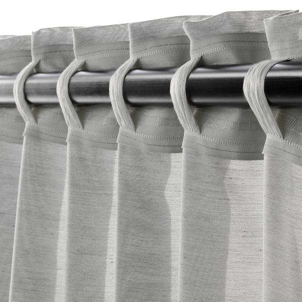 HILJA curtains, 1 pair grey 250 cm 145 cm 0.60 kg 3.63 m² 2 pack
