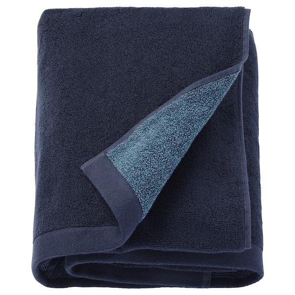 HIMLEÅN Bath sheet, dark blue/mélange, 100x150 cm