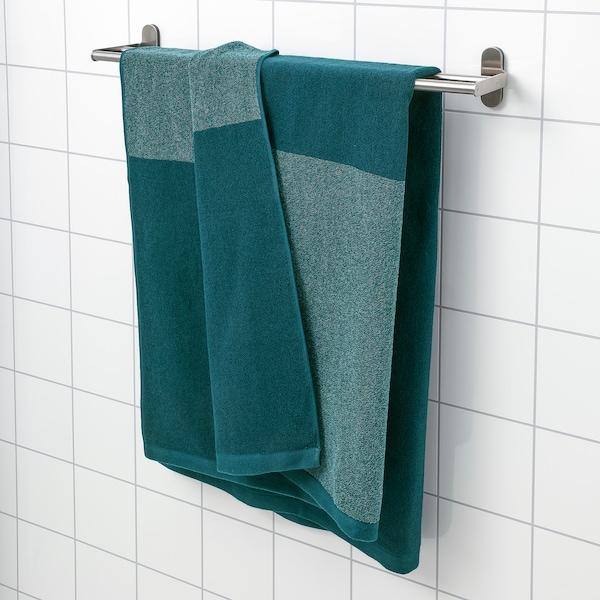 HIMLEÅN Bath sheet, turquoise/mélange, 100x150 cm