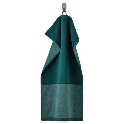 HIMLEÅN Hand towel, turquoise/mélange, 40x70 cm
