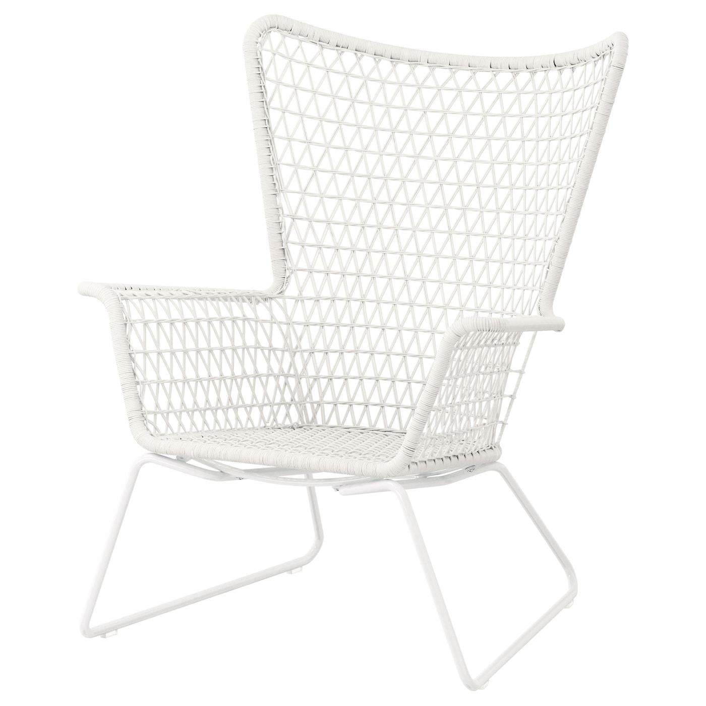 HÖgsten Armchair Outdoor White Ikea