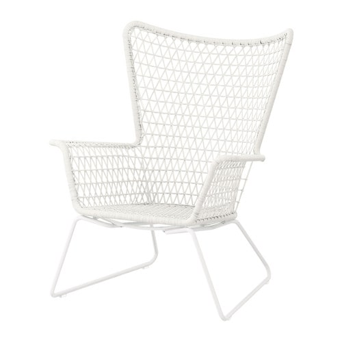 HÖGSTEN Armchair IKEA Hand woven plastic rattan, with the same expressions as natural rattan but durable for outdoor use.