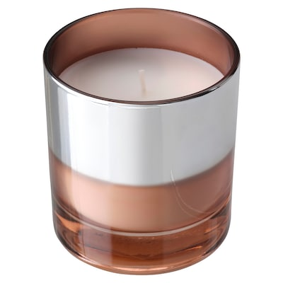 HOPFOGA Scented candle in glass, Sweet and exciting/pink, 9.5 cm
