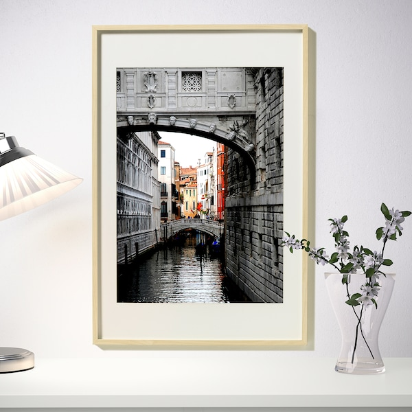 HOVSTA Frame, birch effect, 61x91 cm