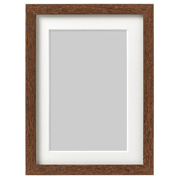 HOVSTA Frame, medium brown, 13x18 cm