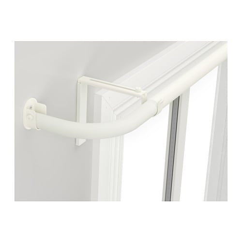 HUGAD Curtain rod combination bay window IKEA The corners can be adjusted to fit different angles of your bay window.