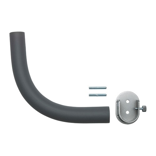 HUGAD Curtain rod corner connector IKEA Perfect to go around a corner or cover a bay window as it has a flexible gooseneck design.