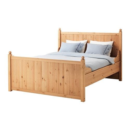 hurdal bed frame queen ikea. Black Bedroom Furniture Sets. Home Design Ideas