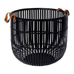 HURRING basket, bamboo black
