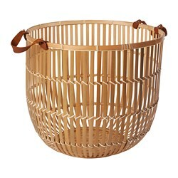 HURRING basket, bamboo natural