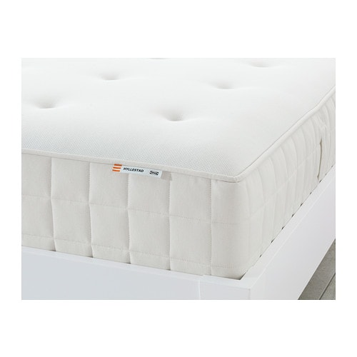 HYLLESTAD Pocket sprung mattress IKEA A layer of memory foam moulds to the contours of your body, relieves pressure and helps you to relax.
