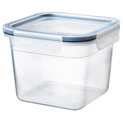 IKEA 365+ Food container with lid, square/plastic, 1.4 l