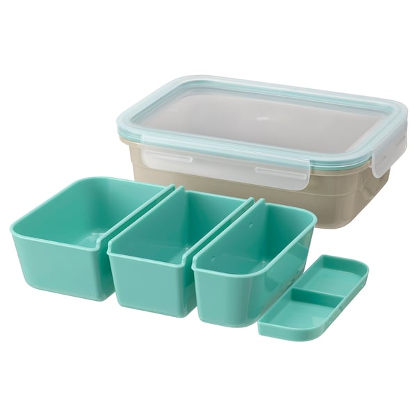 IKEA 365+ Lunch box with inserts, rectangular/beige, 1.0 l