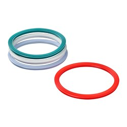 IKEA 365+ gasket, round, mixed colours assorted colours