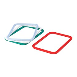 IKEA 365+ gasket, rectangular, mixed colours assorted colours