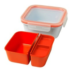IKEA 365+ lunch box with inserts, square