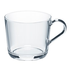 IKEA 365+ mug, clear glass