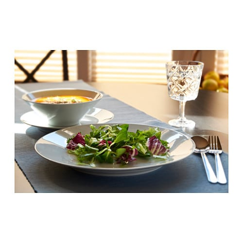 IKEA 365+ 18-piece service IKEA Made of feldspar porcelain, which makes the plate impact resistant and durable.