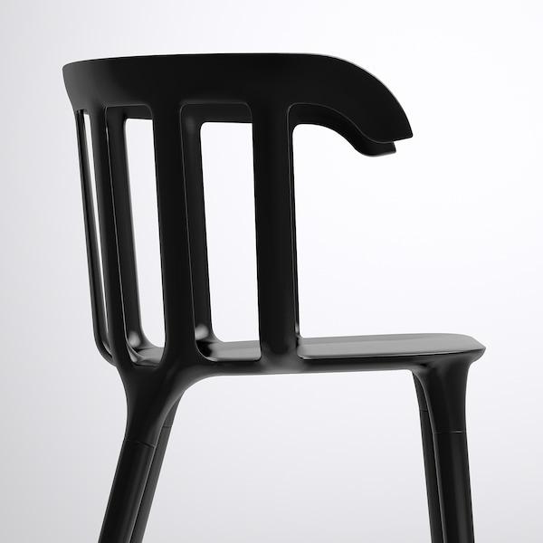 IKEA PS 2012 chair with armrests black 110 kg 52 cm 46 cm 76 cm 41 cm 40 cm 46 cm