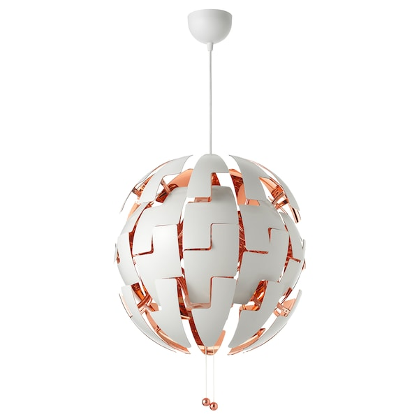 IKEA PS 2014 pendant lamp white/copper-colour 13 W 52 cm 1.5 m