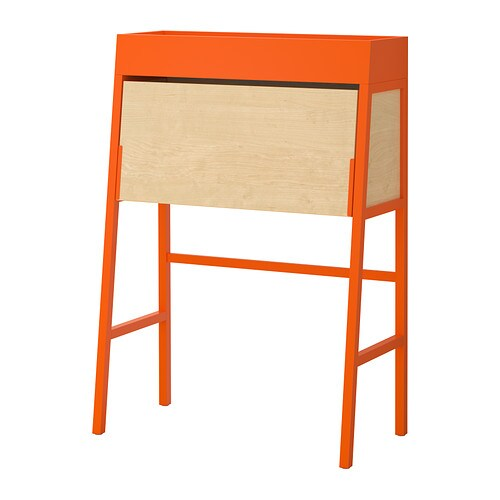 Ikea ps 2014 bureau orange birch veneer ikea for Bureau en pin ikea