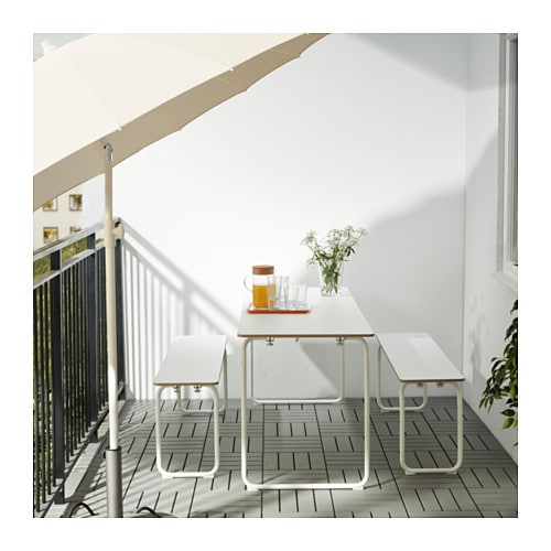 IKEA PS 2014 Table+2 benches, in/outdoor IKEA The bench and the