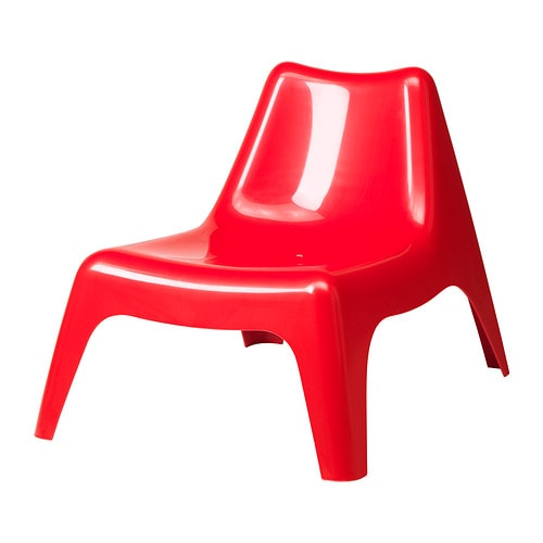 Ikea ps v g easy chair outdoor red ikea - Chaise plastique transparent ikea ...