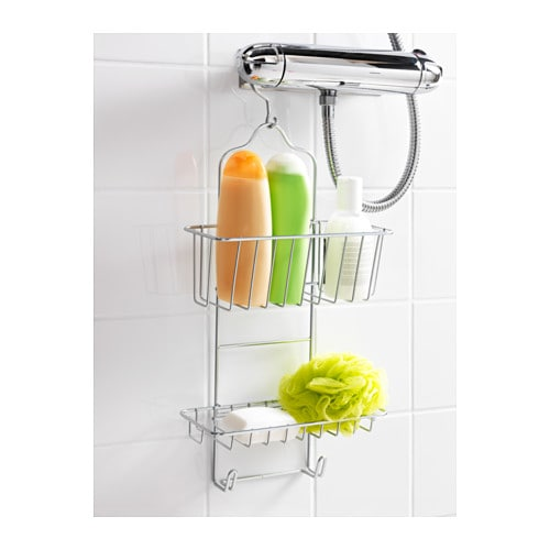 IMMELN Shower hanger, two tiers IKEA Made of zinc-plated steel which is durable and rust resistant.