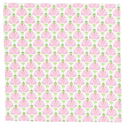 INBJUDEN Napkin, white/pink, 45x45 cm
