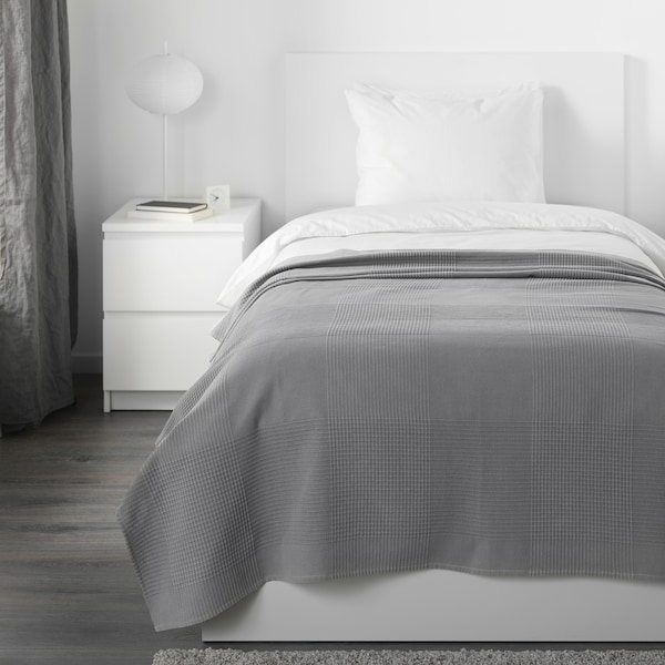 INDIRA bedspread grey 250 cm 150 cm