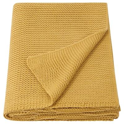 INGABRITTA Throw, yellow, 130x170 cm