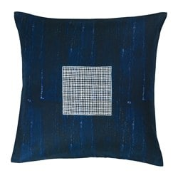 INNEHÅLLSRIK cushion cover, handmade blue