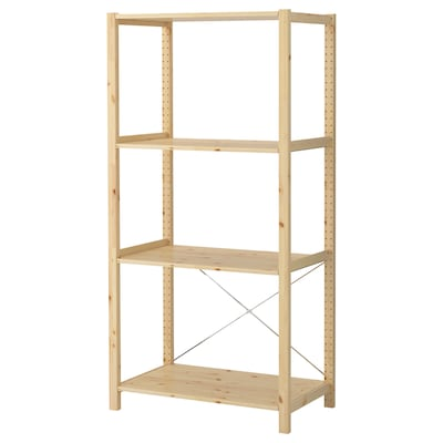 IVAR 1 section/shelves, pine, 89x50x179 cm