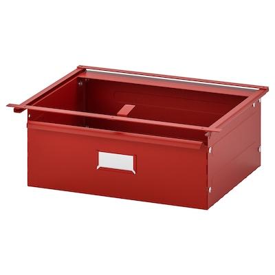 IVAR Drawer, red, 39x30x14 cm