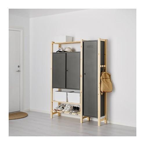 Ivar 2 Sections Shelves Cabinets Ikea