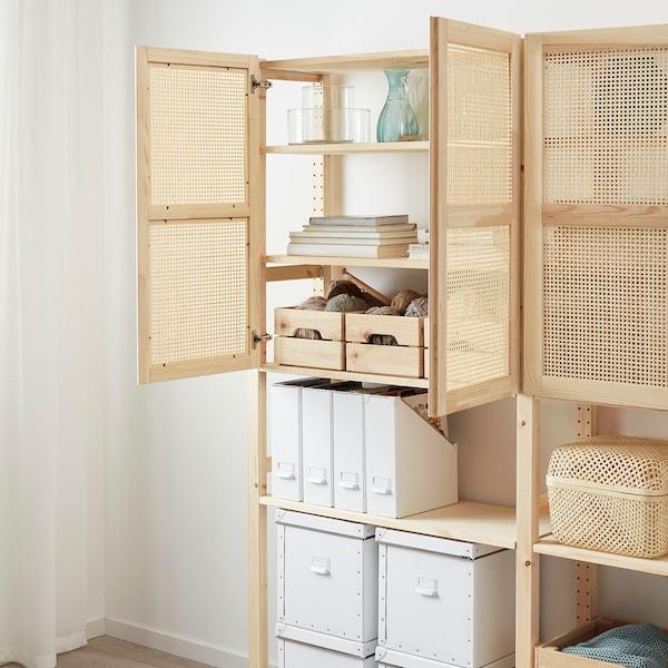 IVAR Storage combination with doors, pine, 174x30x179 cm