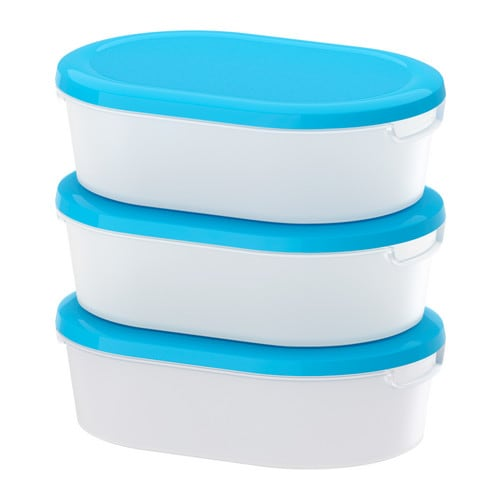 JÄMKA Food container IKEA Several empty food containers can be stacked inside one another to save space in your cabinets.