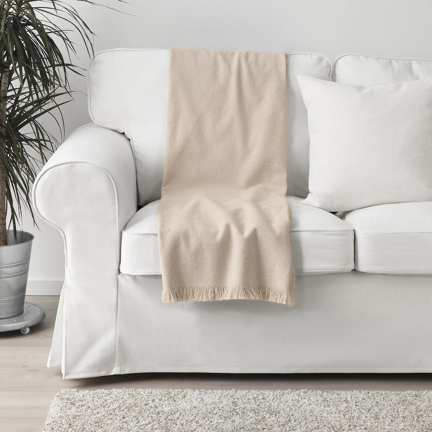 Jofrid Throw Natural 150x200 Cm Ikea