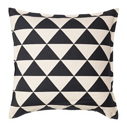 JOHANNE cushion cover, natural, black