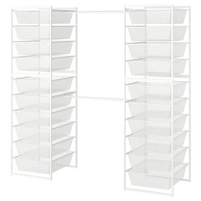 JONAXEL Frame/mesh baskets/clothes rails, 142-178x51x173 cm