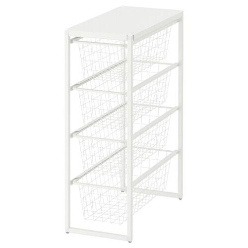 IKEA JONAXEL Frame/wire baskets/top shelf