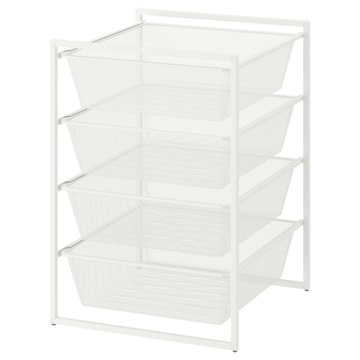 JONAXEL Frame with mesh baskets, white, 50x51x70 cm