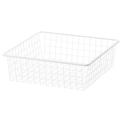 JONAXEL Wire basket, white, 50x51x15 cm