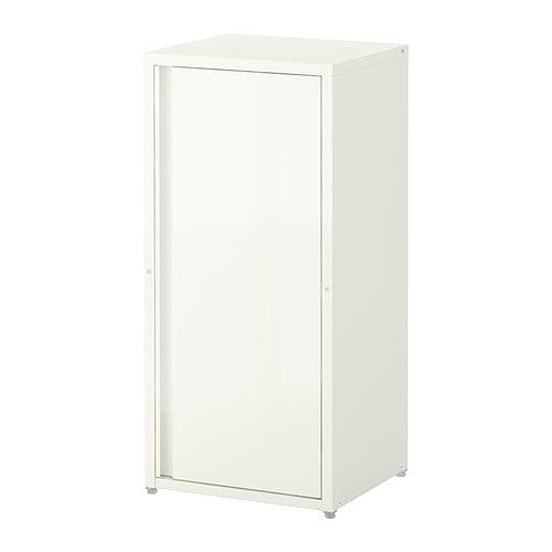 JOSEF Cabinet in/outdoor IKEA The cabinet has two adjustable shelves and the door can be mounted with the opening to the right or left.