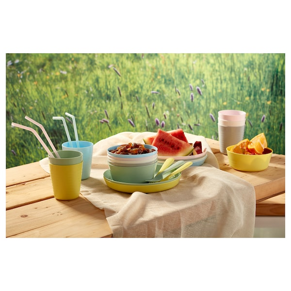 KALAS 18-piece cutlery set mixed colours