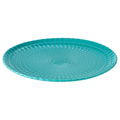 KALASFINT Serving plate, turquoise, 34 cm
